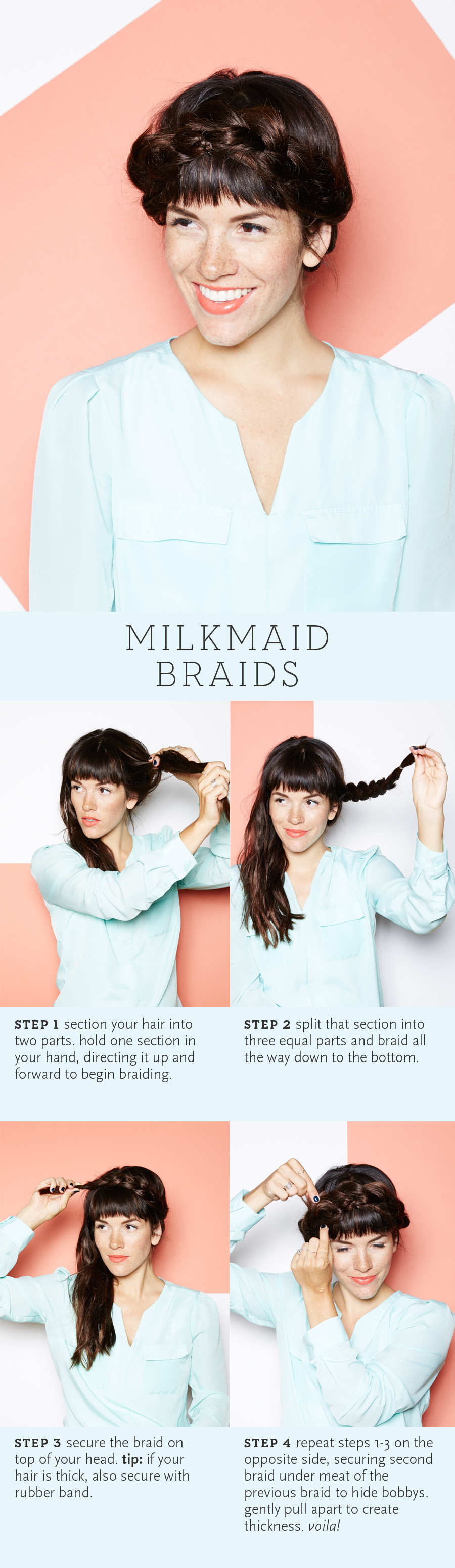 The only milkmaid braid tutorial you'll ever need.